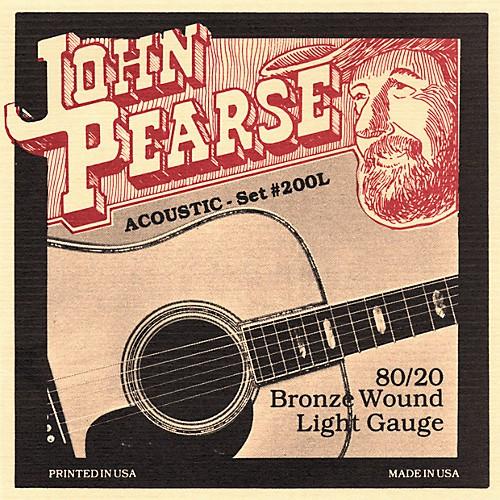 John Pearse 200L民謠吉他弦 80/20 Bronze 黃銅 (12-53) - 【黃石樂器】