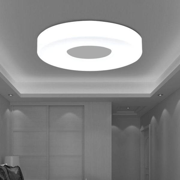 吸頂燈 創意LED吸頂燈圓形臥室客廳陽臺過道廚房走廊燈現代簡約溫馨燈具