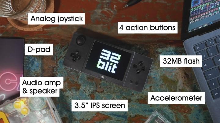 它總共具有十字鍵、類比搖桿與6個按鍵可供使用。