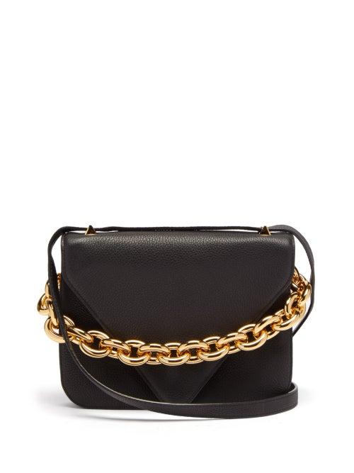 Bottega Veneta - Mount Small Leather Shoulder Bag - Womens - Black