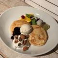 天上のヴィーガンパンケーキ - 実際訪問したユーザーが直接撮影して投稿した新宿自然食・薬膳AIN SOPH. Journey  SHINJUKUの写真のメニュー情報