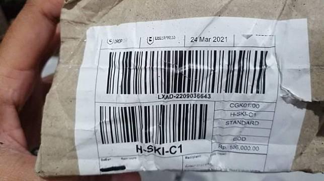 Paket misterius yang diterima seorang warga Kabupaten Bandung Barat. [Istimewa]