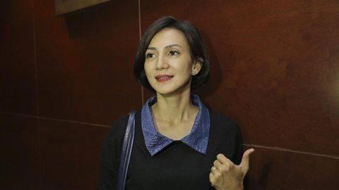 Wanda Hamidah meminta Jokowi untuk melindungi masyarakat dari kebrutalan asuransi di Indonesia. (Detikcom/Hanif Hawari).