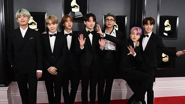 BTS di Karpet Merah Grammy