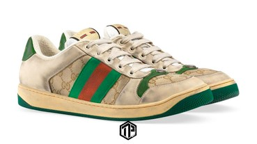 Gucci 推出 帆布與皮革質料 2款復古仿舊運動鞋