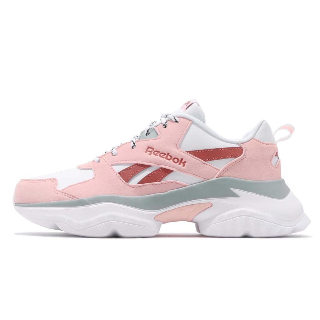Reebok 復古慢跑鞋 Royal Bridge 3 SYN 粉紅 白 韓系 運動鞋 女鞋 EF8022【ACS】