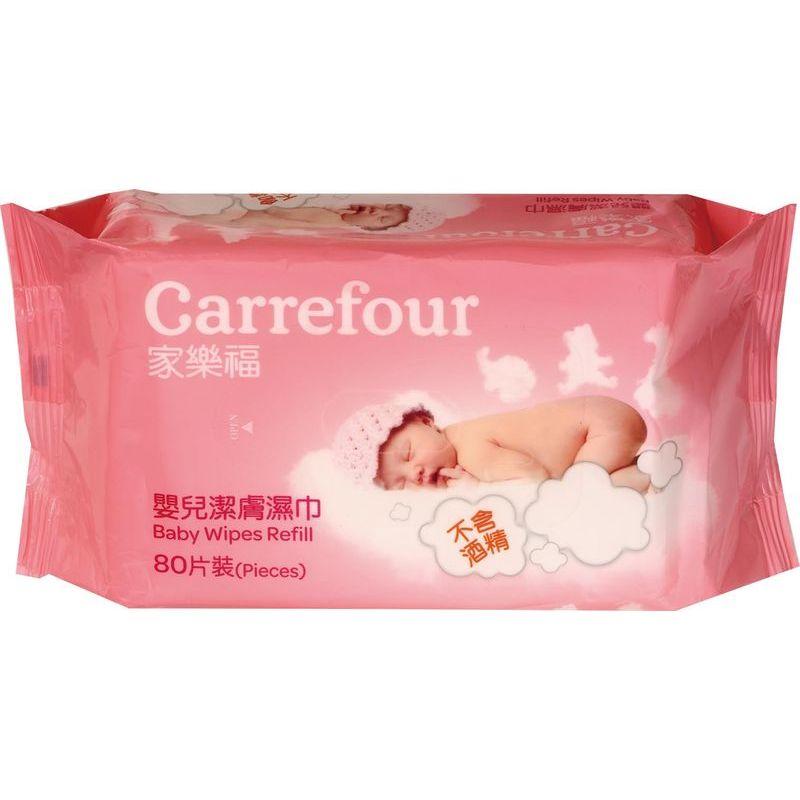 家樂福嬰兒潔膚濕巾補充包