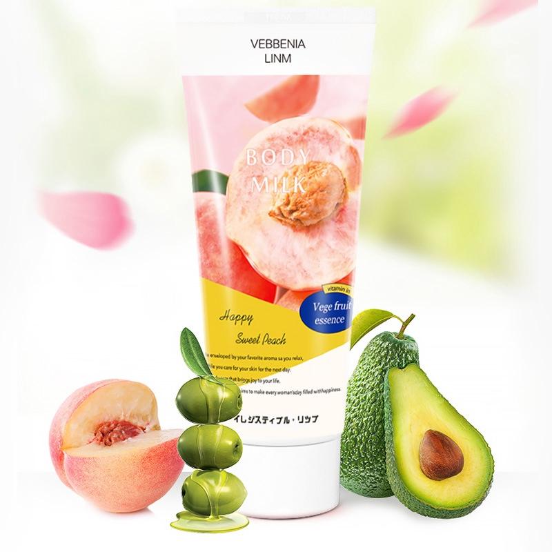 新款新款日本水蜜桃身體乳 水蜜桃身體乳 蜜桃護手保濕滋潤桃子味學生女 日本身體乳 香氛身體乳