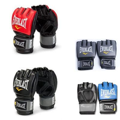 食尚玩家 Everlast訓練拳套MMA男女沙袋沙包拳套半指格斗拳擊手套特價清倉