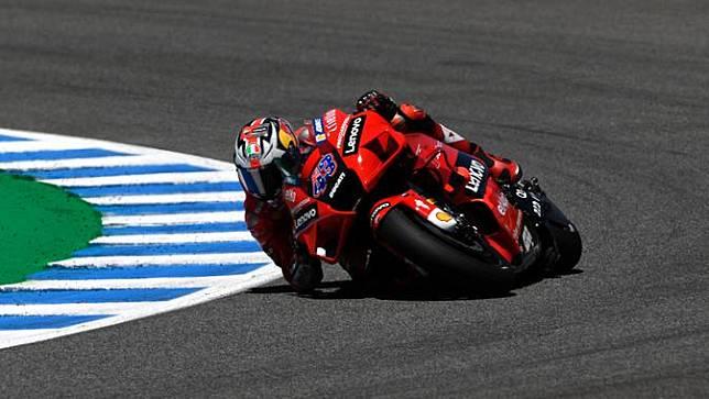 Jack Miller rebut juara di MotoGP Spanyol yang berlangsung di sirkuit Jerez (AFP)