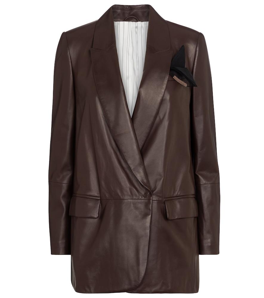 Brunello Cucinelli's buttery-soft nappa leather blazer is destined to acquire hero status in your wa