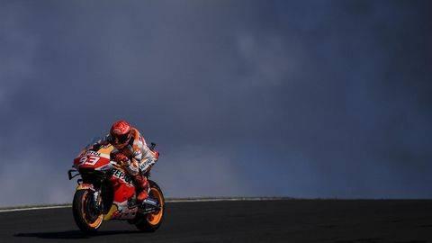 Marc Marquez sudah miliki firasat akan jatuh. (AFP/PATRICIA DE MELO MOREIRA)