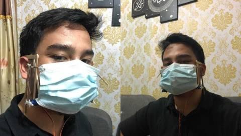 Viral Pria Bekasi Ciptakan Alat Buka Tutup Masker Otomatis Dikendalikan Suara