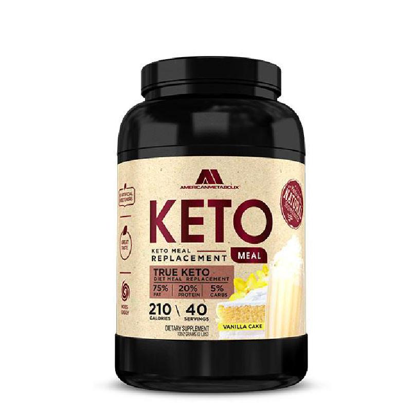 [美國 American Metabolix] 生酮代餐粉-香草蛋糕(1352g/罐)