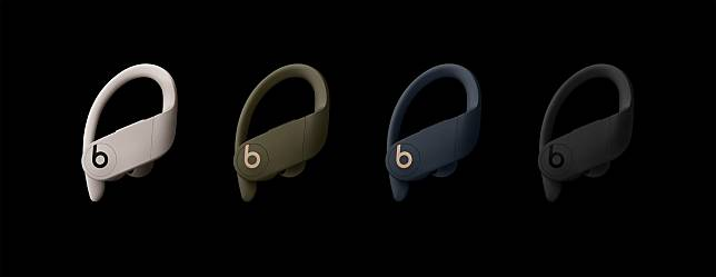 Powerbeats Pro有象牙色、叢林綠色、海軍藍色和黑色選擇。