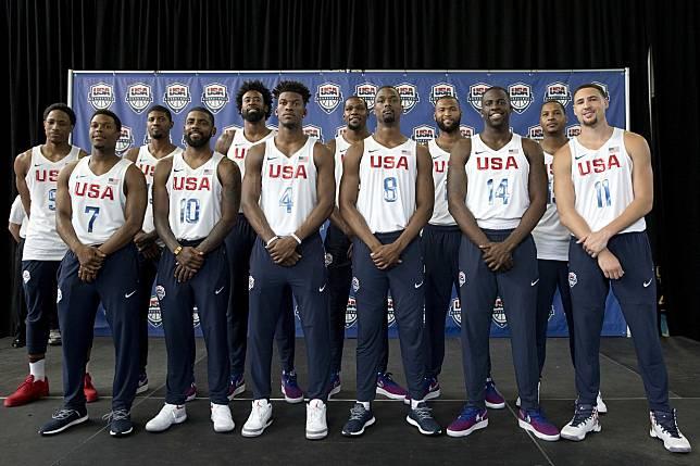 2016年奧運美國男籃隊大咖雲集。 美聯社