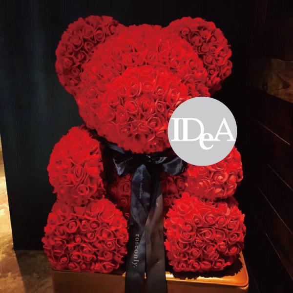 玫瑰花熊 PE玫瑰花 情人節 聖誕禮物 求婚 母親節 非永生花 畢業 裝飾 浪漫永恆 花束 禮盒