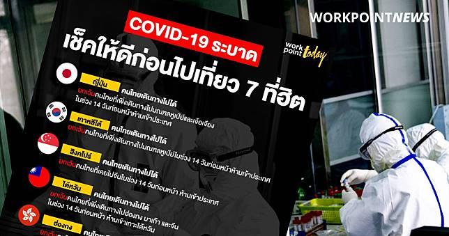 ไวรัส COVID-19 ระบาด เช็คให้ดีก่อนไปเที่ยว 7 ประเทศสุดฮิต