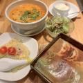 三色ハーフランチ - 実際訪問したユーザーが直接撮影して投稿した新宿餃子馬馬虎虎 ルミネエスト新宿店の写真のメニュー情報