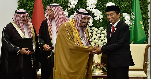 Raja Salman dan Presiden Joko Widodo. (Foto: Antara)