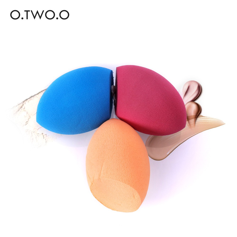 O.TWO.O 斜切美妝蛋 立體海綿圓形化妝棉乾濕兩用粉撲化妝粉撲