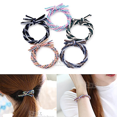 kiret韓國編織風手工髮圈 超值8入