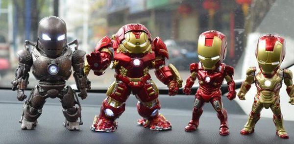 漫威復仇者聯盟鋼鐵俠反浩克玩具模型手辦動漫公仔汽車載擺件