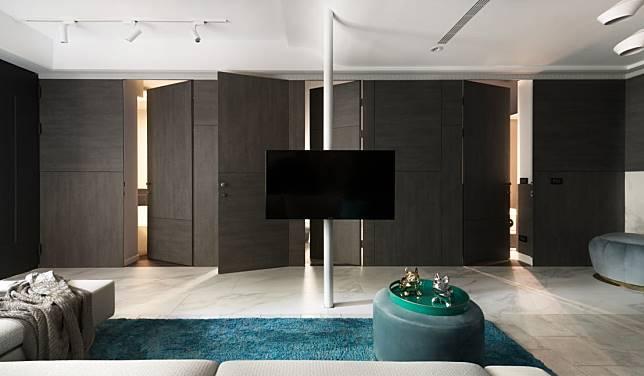 電視牆與隱藏門