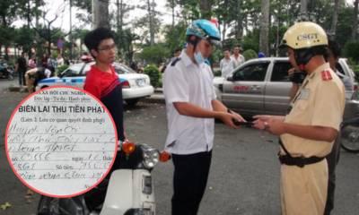 Lái xe máy, phạm những lỗi nào thì được nộp phạt tại chỗ?