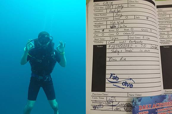 EXCLUSIVE: Diver tells us what it was like to be 22 meters deep when
