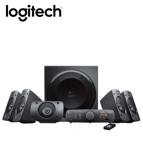 一次最多可連接六種裝置品名 / 規格:【logitech 羅技】Z906 環繞音效音箱系統聲道/件數:5.1 聲道數位解碼技術音箱8件平均輸出功率:500 瓦保固:2 年有限硬體保固使用電源:含數位光