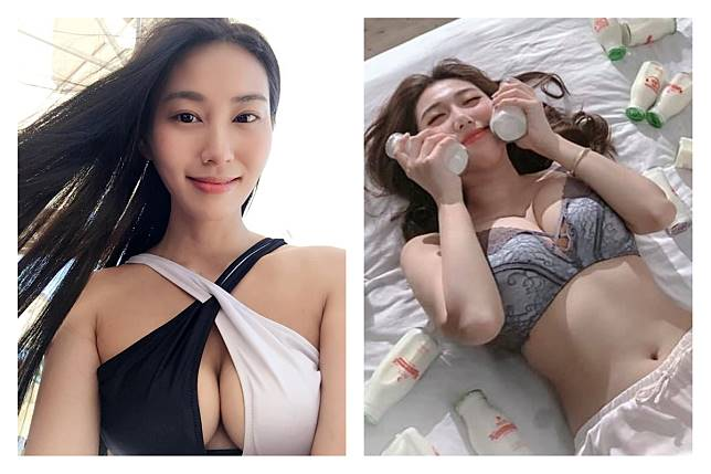 ▲港妹在網路上發起「用胸愛香港」活動,曬出清涼美照要網友別被大胸女警「迷惑」。(圖/翻攝自 Xenia Chong ,姚琰欣臉書)