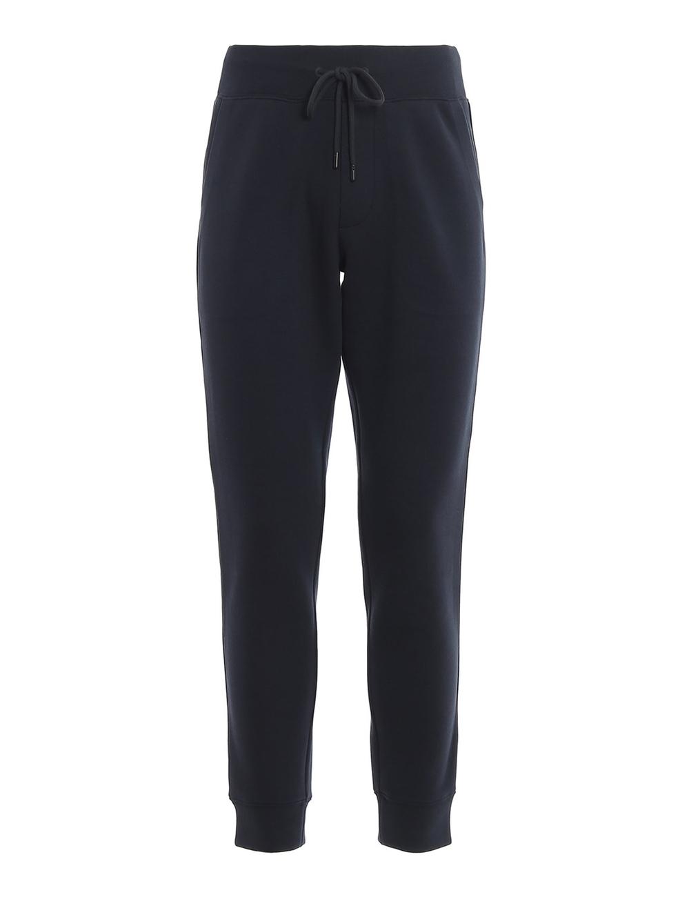 彈力高科技棉質慢跑褲,腰部有鬆緊帶和束帶,兩個傾斜口袋,後貼邊口袋。 尺寸類型:歐盟