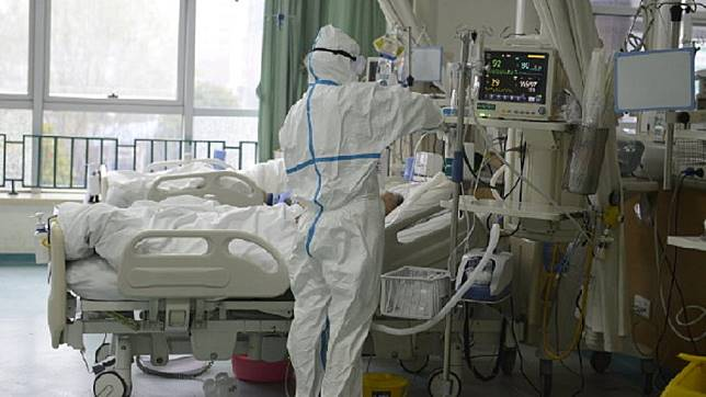 武漢肺炎疫情嚴重,大陸許多地區都已經淪陷。(圖/翻攝自武漢中心醫院微博)