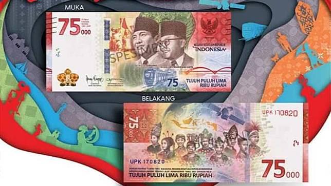 Uang Peringatan dengan nominal Rp75.000. (Foto: Ist)