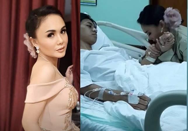 Anak Yuni Shara tengah terbaring di rumah sakit