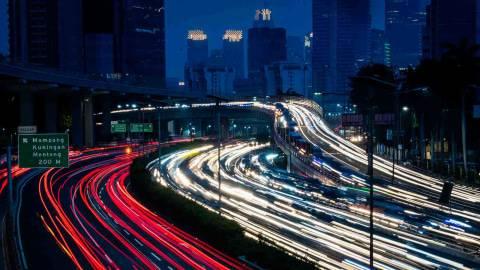Foto: Kemacetan di Hari Pertama Transisi New Normal di Jakarta