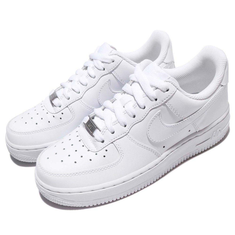 NIKE 休閒鞋 Wmns Air Force 1 07 女鞋 低筒 復古 AF1 經典 流行 皮革 球鞋 白 [315115-112]