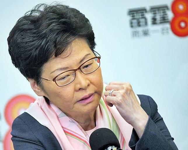 林鄭月娥指反修例風波令人傷心。