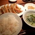 W餃子定食 - 実際訪問したユーザーが直接撮影して投稿した西新宿餃子渋谷餃子 新宿西口店の写真のメニュー情報