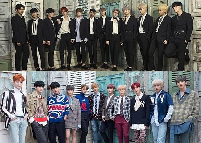 新人男團N.CUS的預告照被指抄襲Wanna One的專輯封面。