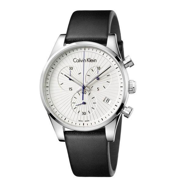 錶帶皆使用小牛皮黑色皮革錶帶;適合於各種場合及風格的搭配,充分展現個人品味質感。Calvin Klein steadfast 堅定系列,摩登簡約為時尚風格展現配件的畫龍點睛之效。品牌: CalvinK