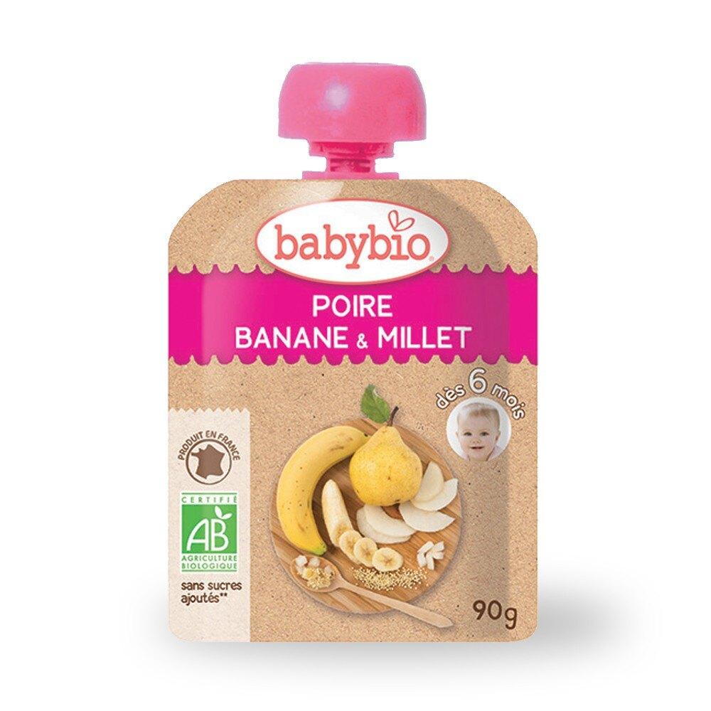 《法國Baby bio》 有機洋梨小米纖果泥90g 好窩生活節