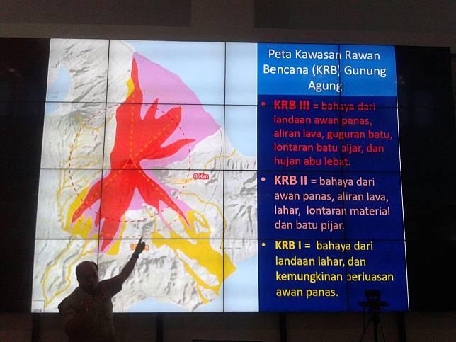 Konferensi pers Penanganan Erupsi Gunung Agung - Dhaifurrakhman Abas.