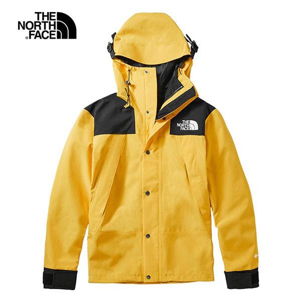 材質: 聚酯纖維The North Face經典Mountain Jacket 系列。GORE-TEX全壓面料。腋下透氣拉鍊設計。防護性可調節風帽。前方 VISLON拉鏈加以按鈕設計的雙層防風質料。塔