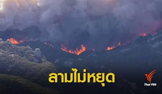แคลิฟอร์เนียยังวิกฤต ลมแรงโหมไฟป่าเผาพื้นที่กว่า 2 แสนไร่