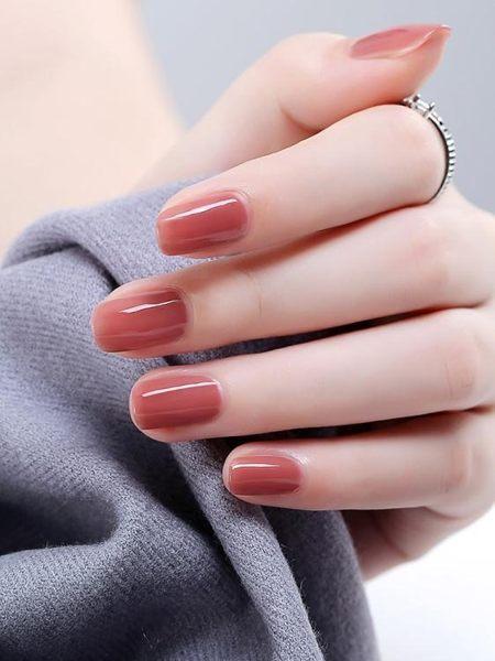 指甲油 指甲油裸色無毒持久不可剝防水不掉色漸變果凍色美甲 莎拉嘿幼
