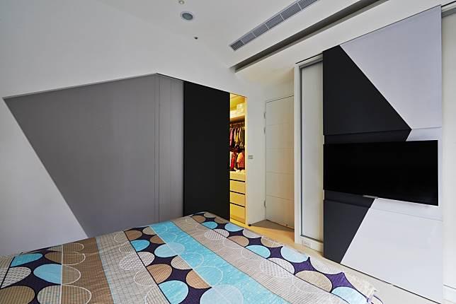臥室設計實例二:造型牆面