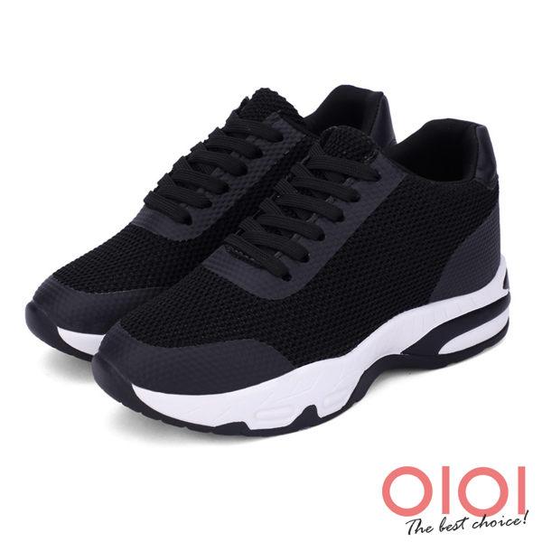 涼鞋 老爹鞋 復古翻玩綁帶內增高老爹鞋(黑)*0101shoes【18-708bk】【現貨】