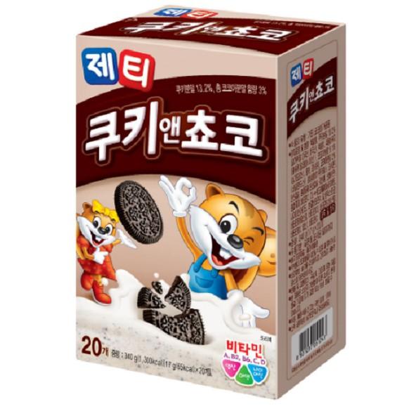 [韓國直送][POST] Jetti 餅乾 & 巧克力 340g (17g*20)